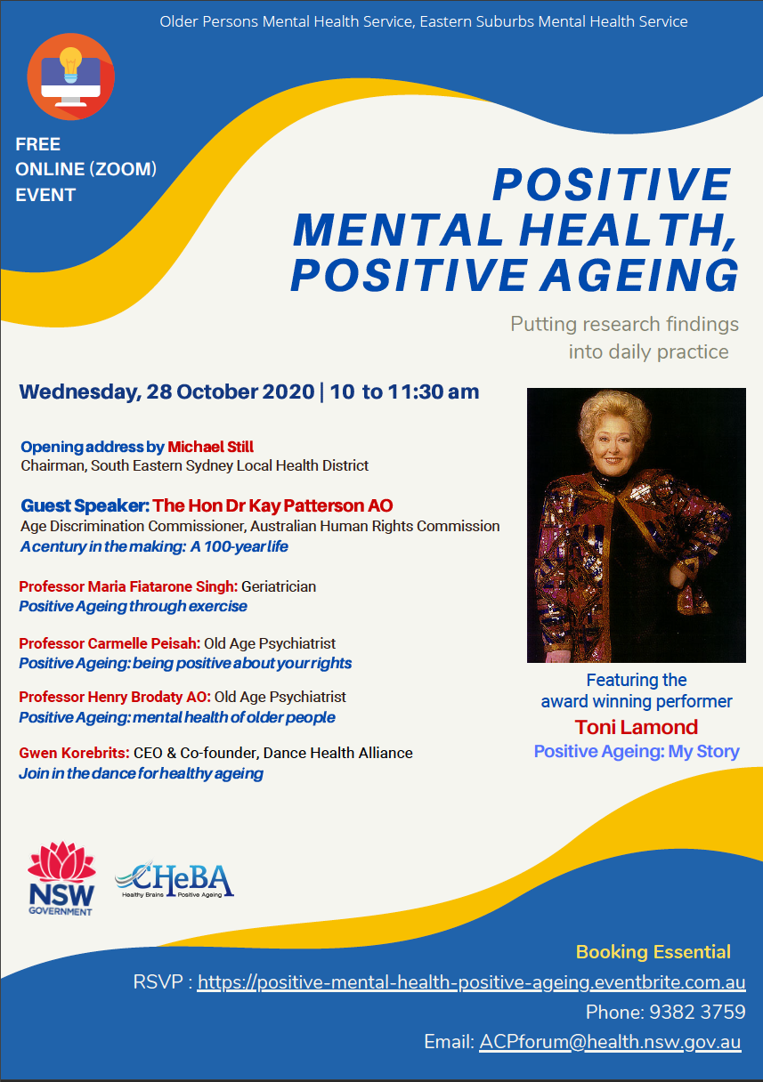 Positive Ageing flyer