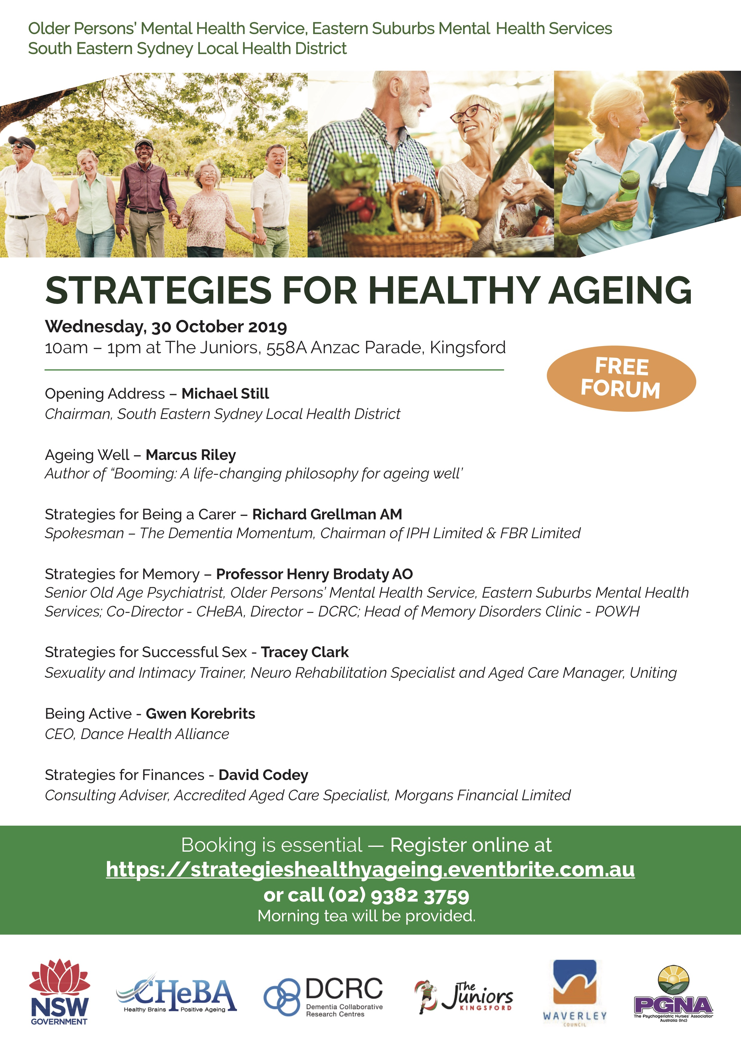 2019 Strategies for Healthy ageing